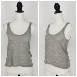 Feel the Piece Perforated Grey Tank